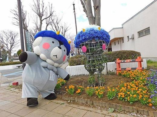 信州花フェスタ2019に「おおまぴょん」トピアリー設置